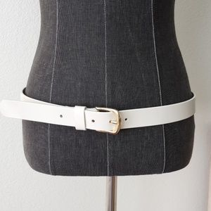 New J.Crew off white leather belt size Medium